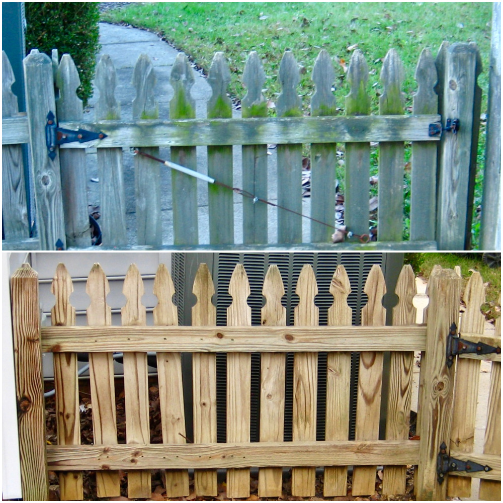 Soft Washed Fence Cleaning